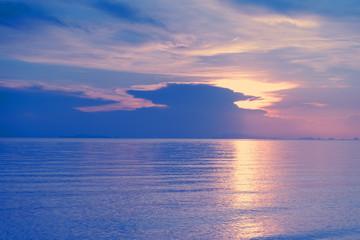 Wall Mural - Scenic travel background. Serenity sunset beach