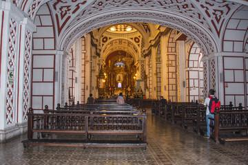 Interior of Monastery of San Francisco in Lima (Peru)