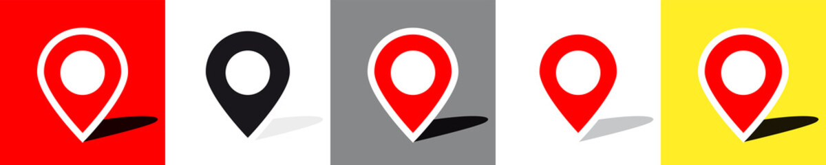 Location pin on different backgrounds Fotomurales