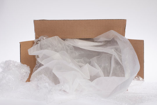 Foam cushion in the carton box