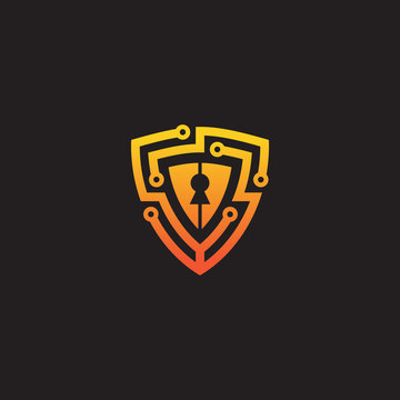 security logo technology for your company, shield logo for security data