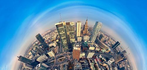 Obraz  Warszawa, widok na panoramę nowoczesnego miasta - fototapety do salonu