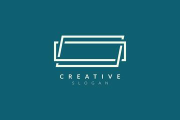 Rectangular stripe logo design. Minimalist and modern vector illustration design suitable for business and brands