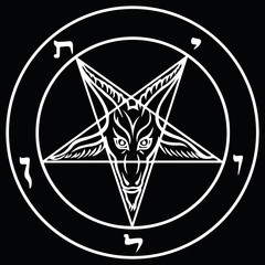 Sigil of Baphomet Pentagram White