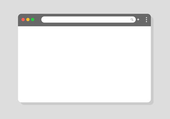 Browser window. Vector browser window designed to be simple for modern websites