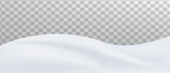 Snow landscape. Snow drift, mountain.