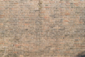 Rustic brick wall vintage antique texture pattern grunge medieval in Venice
