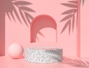 Fototapeta abstract background for product presentation, podium display, minimal pastel 3d scene, 3d rendering.