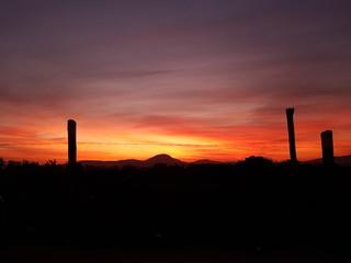An orange sunset in Brazil