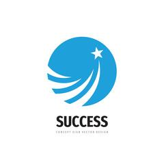 Star space logo vector design. Development & success creative sign.