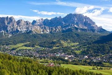 Cortina D'Ampezzo, Dolomite, Alps, Veneto, Italy, Europe Fototapete