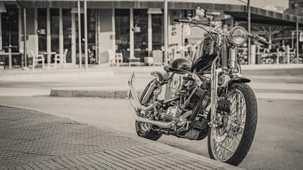 Printed roller blinds Bicycle black & white old school chopper motorcycle.jpg