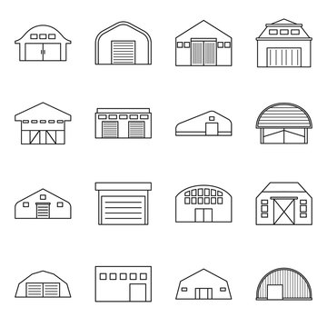 Vector design of building and agricultural icon. Collection of building and barn vector icon for stock.