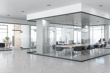 Contemporary concrete office interior