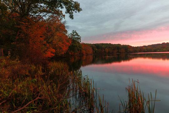 Early Fall Sunrise Lake