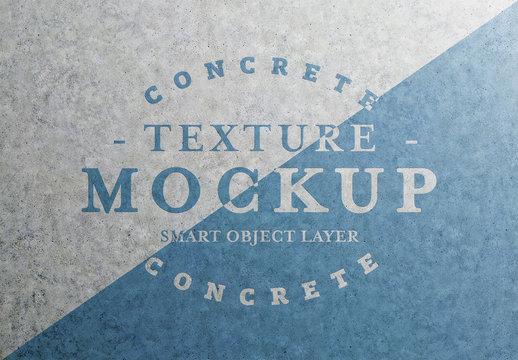Concrete Text Effect Mockup
