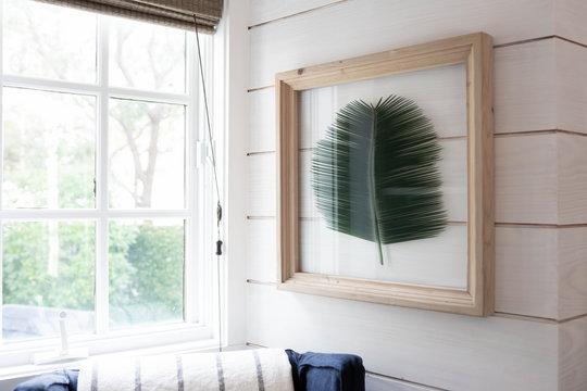 Palm Branch Framed Interior Design