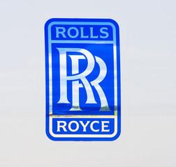 Rolls Royce logo. Russia, Moscow. July 2017.