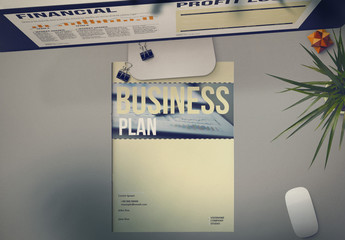 Business Plan Layout with Pale Yellow Accents