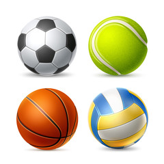 Vector tennis soccer volley ball set for betting
