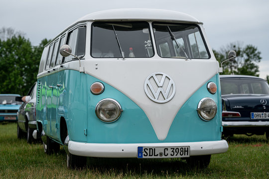 Minibus Volkswagen Type 2 (Samba Bus) on June 08, 2019 in Paaren in Glien by Berlin, Germany.