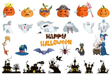 characters selection. halloween bright monsters