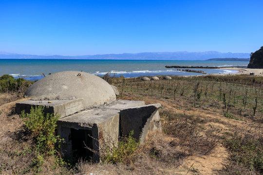 Old bunker at bunker beach