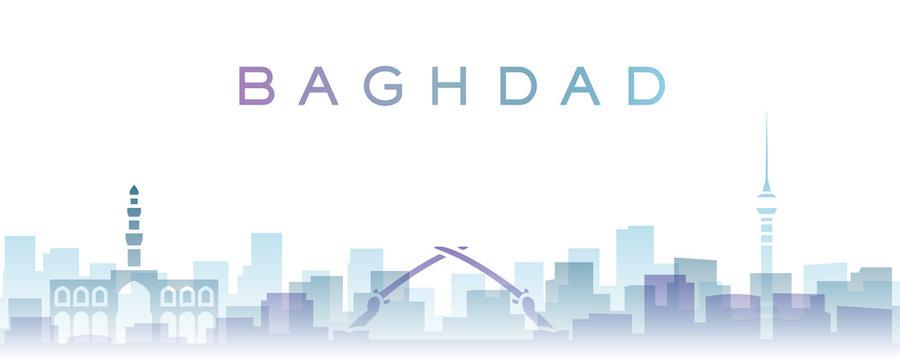 Baghdad Transparent Layers Gradient Landmarks Skyline