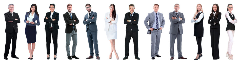 group of successful business people isolated on white Wall mural