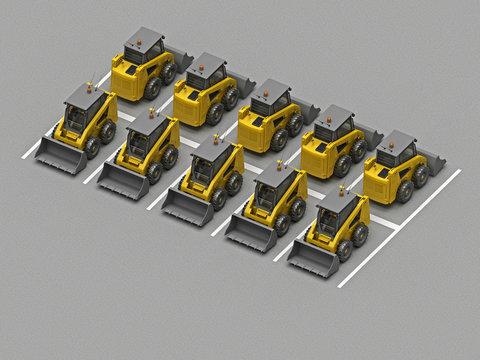 parking with skidsteer loader
