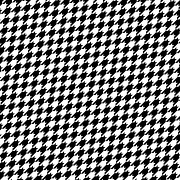 Seamless vector hounds tooth pattern in black and white.