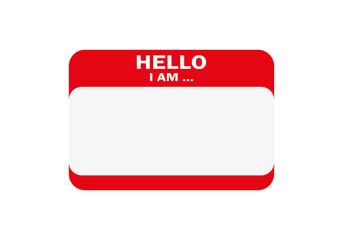 Hello, I am..., Sticker Vector, Orange Color