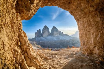 Tre cime de lavaredo in Italian Alps Fototapete