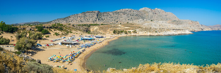 Agathi Beach on the Island of Rhodes Greece