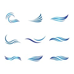 Wave symbol vector icon