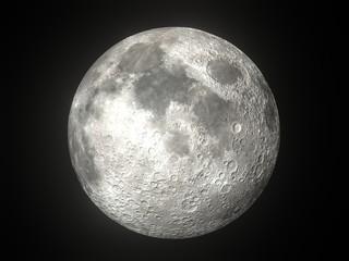 Earth's Moon Glowing On Black Background Fototapete