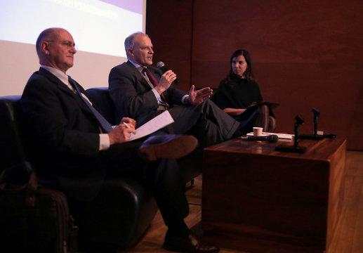 ejandro Werner of the International Monetary Fund speaks in Bogota
