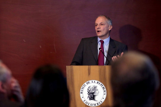Alejandro Werner of the International Monetary Fund speaks in Bogota