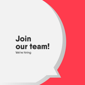 Join our team banner template