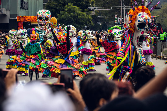 Day of the dead parade, Mexico City, 2019