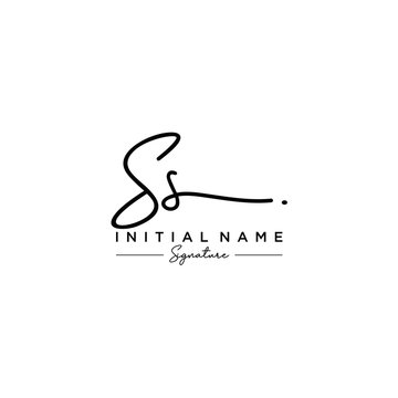 Letter SS Signature Logo Template Vector