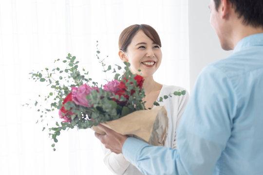 夫婦 カップル 花束 記念日