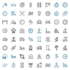 speed icons set