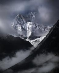 Foto auf Acrylglas Lavendel Annapurna Himalaya Nepal