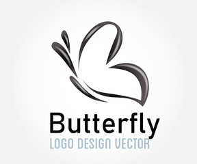Butterfly beauty symbol icon logo icon vector image