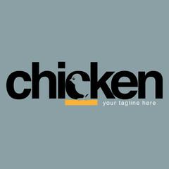 Estores personalizados para cocina con tu foto Vector modification of chicken letters as a symbols or business icons.