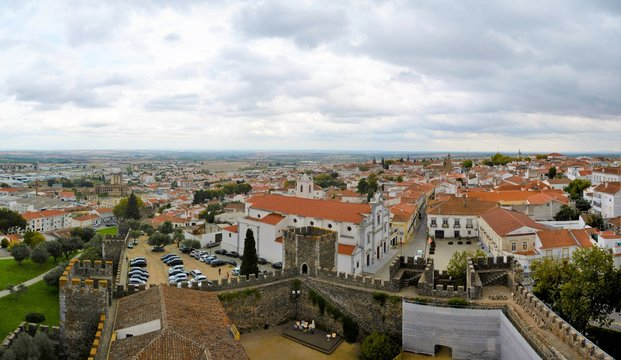 Beja city in Portugal seen from above 27.Oct.2019
