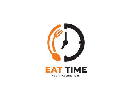 food time design logo template vector