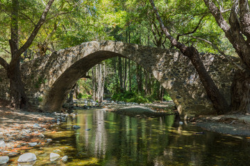 Kelefos medieval bridge in Cyprus