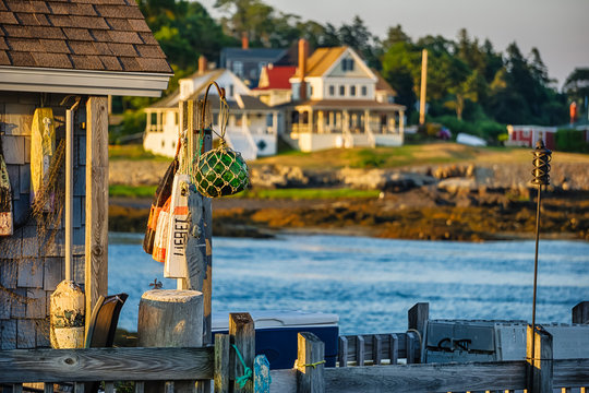 Maine coastline dock